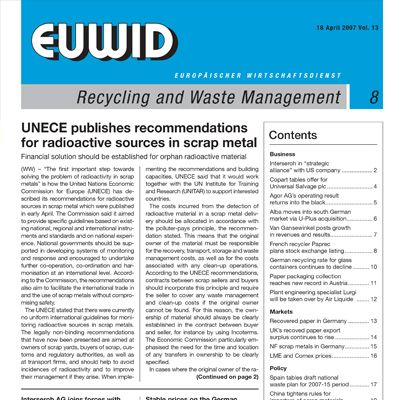1995 EUWID Geschichte Recycling and Waste Management