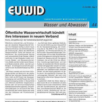 1998 EUWID Geschichte Wasser und Abwasser