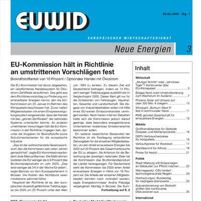 2008 EUWID history Neue Energie