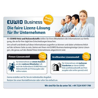 2015 EUWID history Business license models