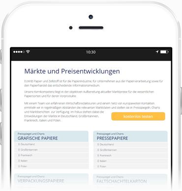EUWID Märkte Preisentwicklung mobil tablet