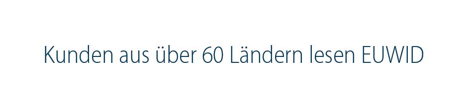 Kunden aus 60 Ländern lesen EUWID german